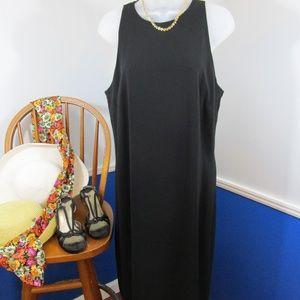Lauren Basic Black Sheath Dress